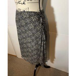 Philippe Adec Skirts - Philippe Adec Floral Silk Skirt